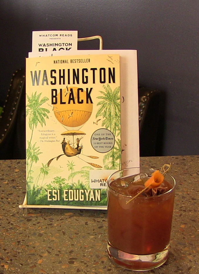 Washington Black book with cocktail
